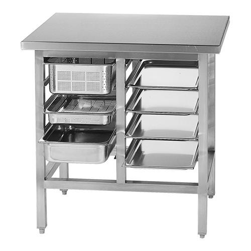 EMGA Work table 090cm 10x(GN1/1)