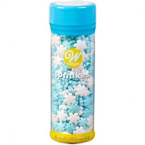 WILTON Pearlized Snowflake Sprinkles, 4 oz.