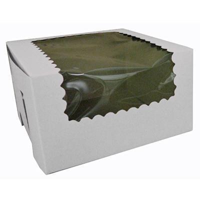 CK Cupcake box w/wind white 8x4x4