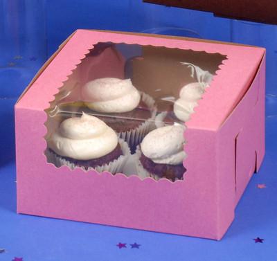 CK Cupcake Box w/Wind STRW 7x7x4